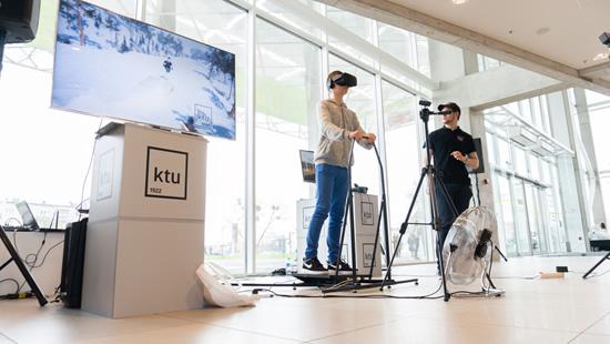 Virtualios realybės išbandymas. KTU nuotr.
