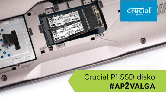 """""""Crucial P1"""" SSD disko apžvalga"""
