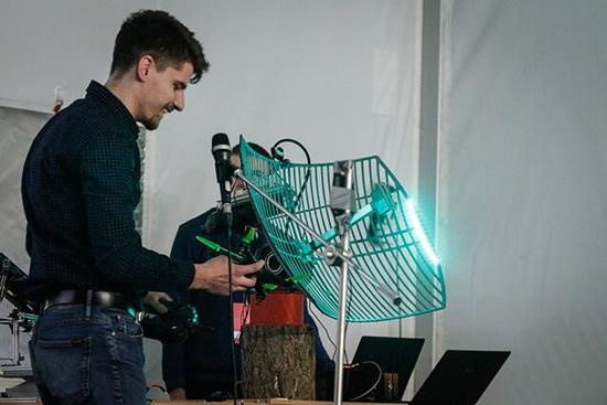 Stovyklos metu pristatyti gynybos technologijų prototipai / Pranešimo autorių nuotr.