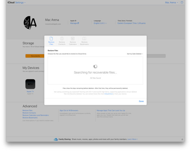 """Kaip """"Mac"""" kompiuteryje atstatyti """"iCloud"""" ištintus failus"""