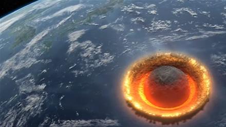 Asteroido smūgio simuliacija © Youtube.com
