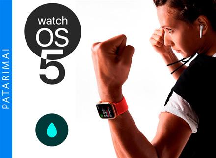 """Kaip naudoti """"Apple Watch"""" apsaugos nuo vandens funkciją"""