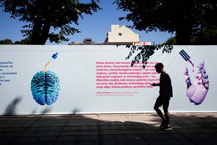 """KTU dovana Kaunui – paroda pačiame miesto centre """"Labas, futurizme!"""""""