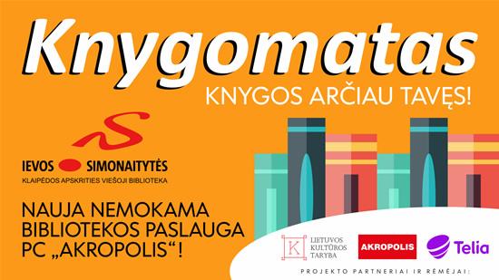Pirmą kartą Lietuvoje: KNYGOMATAS