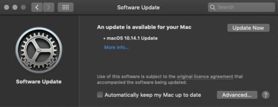 """Kaip """"macOS Mojave"""" patikrini ar yra sistemos atnaujinimai"""