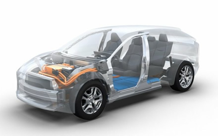 """""""Subaru"""" ir """"Toyota"""" kurs elektrinį visureigį © Gamintojo nuotr."""