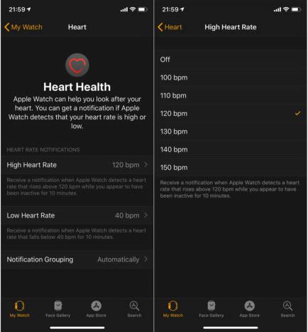 """Kaip valdyti širdies ritmo pranešimus """"Apple Watch"""""""