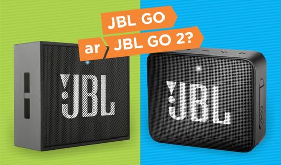 """""""JBL GO 2"""" ar """"JBL GO""""? Populiarių mobilių kolonėlių palyginimas"""