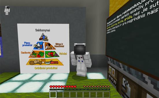 """""""Minecraft"""" pasaulio pažinimo pamoka. Pranešimo autorių nuotr."""