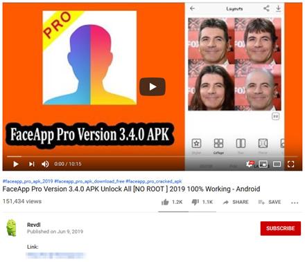 """""""FaceApp"""" apsimetantys kompiuteriniai virusai plinta per """"YouTube"""" ir internetines reklamas"""