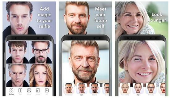 """""""FaceApp"""" nuotraukų redagavimo programėlė / """"FaceApp"""" nuotr."""