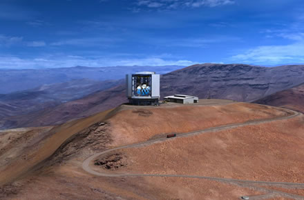 Mason Media/GMTO iliustr. / Taip turėtų atrodyti užbaigtas statyti Gigantiškasis Magelano teleskopas (GMT)