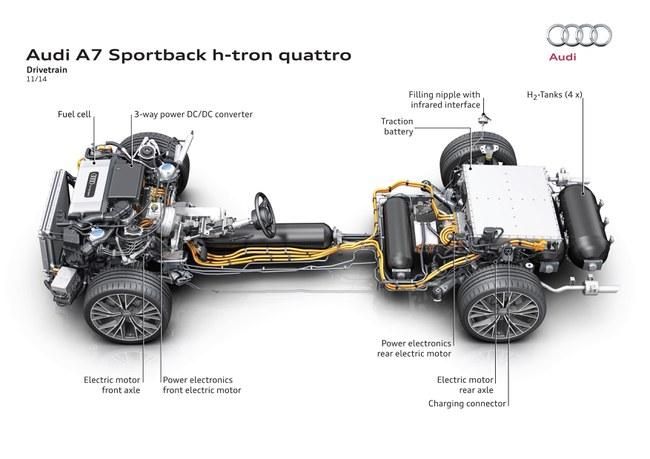 """Vandeniliniai automobiliai patys sau gamina energiją © """"Audi"""" nuotrauka"""