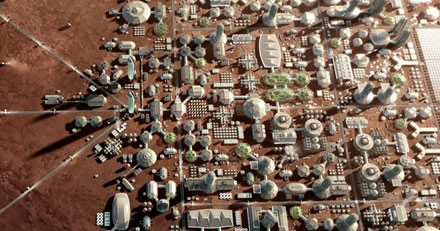 """Taip galėtų atrodyti miestas Marse © """"SpaceX"""""""