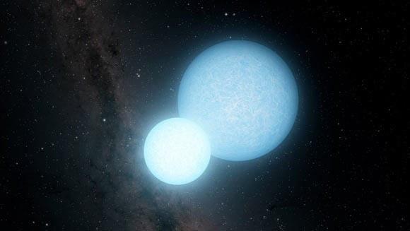Dvinarė baltoji nykštukė (dailininko vizualizacija). © Caltech/IPAC