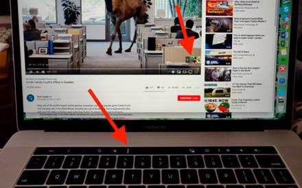 """Kaip išvengti """"YouTube"""" reklamų """"MacBook Pro"""" su """"Touch Bar"""""""