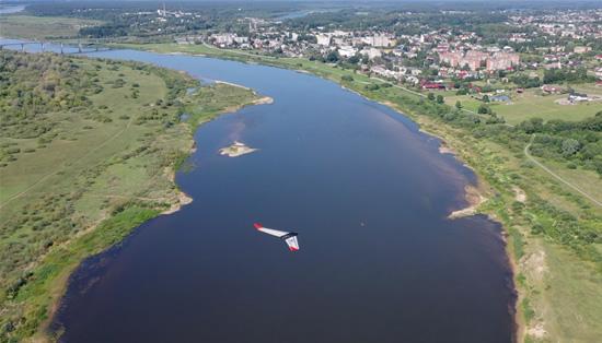 Drono skrydis per Lietuvą. VGTU nuotr.