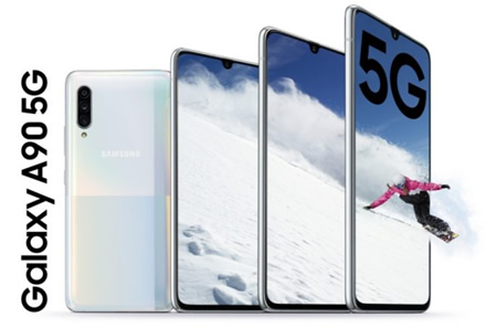 """Samsung Galaxy A90 5G"": ""Snapdragon 855"", talpi baterija ir 5G"