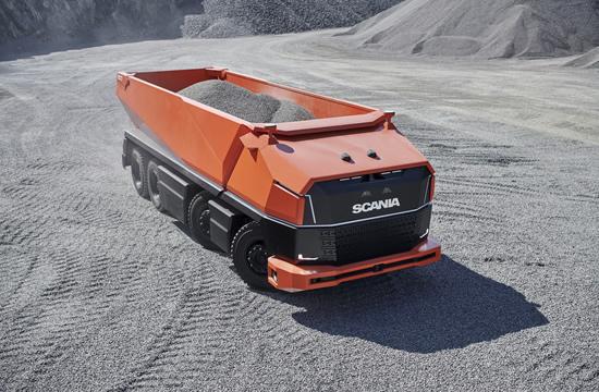 """""""Scania"""" atskleidė ateities viziją – pristatytas autonominis sunkvežimis be vairuotojo kabinos"""