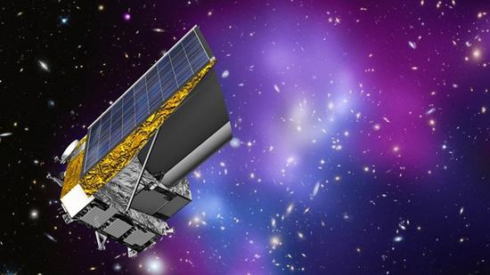 "Dailiniko pavaizduotas ""Euclid"" teleskopas © sci.esa.int/euclid"