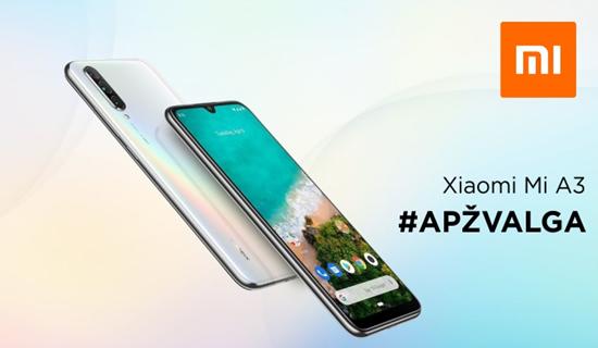 "Švarus ""Android"" ir triguba kamera: ""Xiaomi Mi A3"" apžvalga"