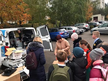 Elektronikos atliekų rinkimas Vilniaus Simono Daukanto progimnazijoje