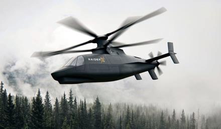 "Bendrovės iliustr. / ""Sikorsky Raider X"" sraigtasparnis"