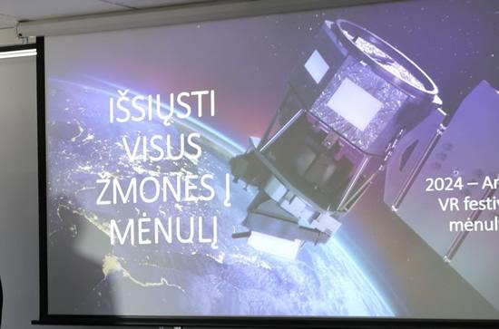Organizatorių nuotr. / NASA hakatono idėjų pristatymas