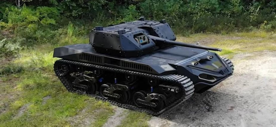 """Stopkadras / """"Textron Ripsaw M5"""" robotas tankas"""