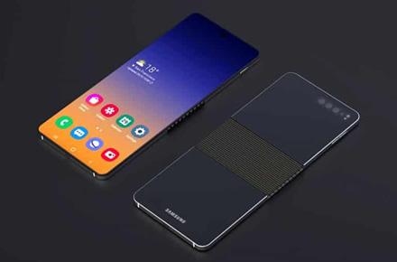 """""""Samsung"""" bandys sulenkti telefono ekraną vertikaliai"""