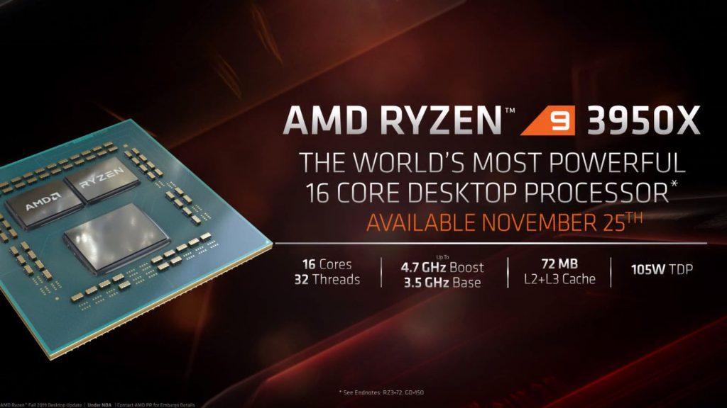 """""""Ryzen 9 3950X"""" procesorius"""
