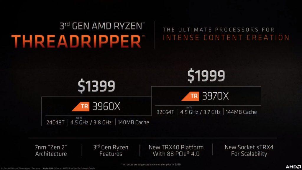 """AMD pagaliau atskleidė """"Threadripper 3000"""" ir R9 3950X procesorius"""