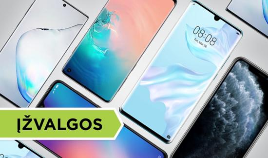 Geriausi 2019 metų telefonų flagmanai: kas jiems būdinga?