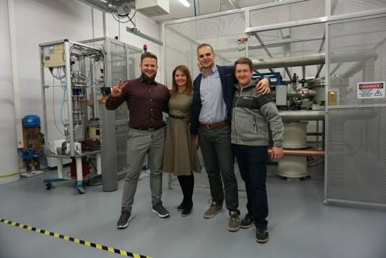 Dokt. A. Pabedinskas, dr. J. Šapolaitė, dr. Ž. Ežerinskas, A. Plotnikov / Fizinių ir technologijos mokslų centras (FTMC) nuotr.