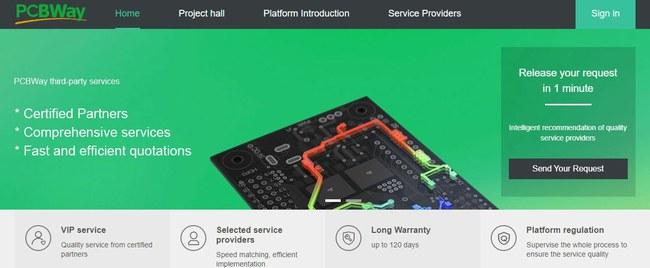 """Projektavimo paslaugoms teikti """"PCBWay"""" naudojasi savo partnerių tinklu"""