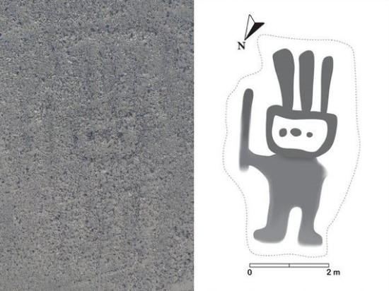 Yamagata universiteto nuotr./Mažąjį geoglifą sugebėjo įžiūrėti tik dirbtinis intelektas