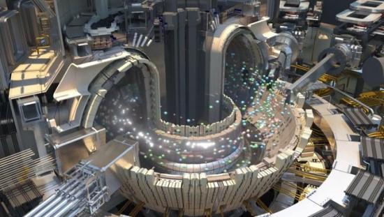 """""""ITER"""" atliks bandymus su 10 kartų storesniais plazmų srautais, palyginus su didžiausio šiandien veikiančio tokamako galimybėmis © ITER"""