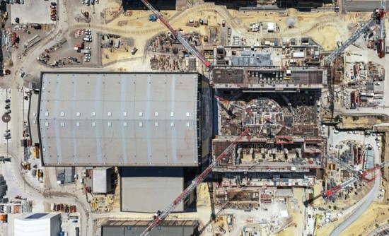 Žvilgsnis į ITER statybas iš paukščio skrydžio © Vinci