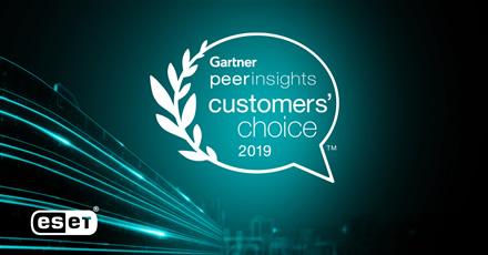 """ESET suteiktas išskirtinis klientų įvertinimas 2019 m. """"Gartner"""" apdovanojimuose"""
