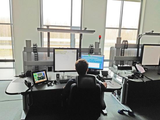 Naujo Regiono skrydžių valdymo centro darbo vieta