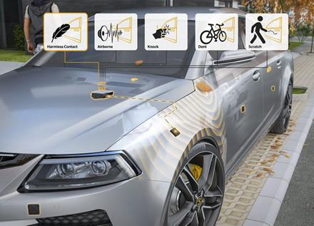 """""""Contact Sensor System"""" jutikliai leis registruoti automobilio kėbulo pažeidimus©""""Continental"""" nuotr."""