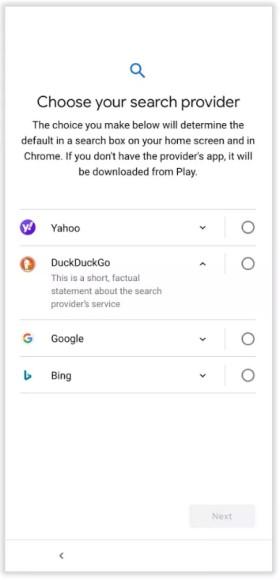 """""""DuckDuckGo"""" pateko į visus ES """"Android"""" paieškos sistemų sąrašus"""