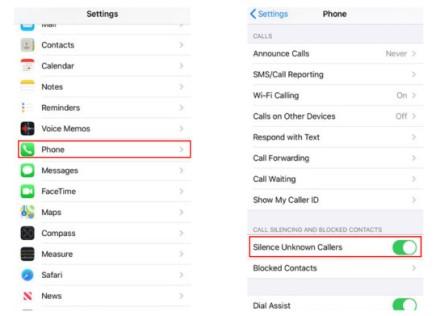 """Kaip nutildyti nežinomus skambintojus """"iOS 13"""""""