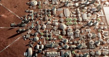 """Galbūt taip atrodys miestas Marse © """"SpaceX"""""""