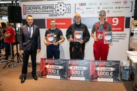 7 kartą surengtas nacionalinis jaunųjų automechanikų profesinio meistriškumo konkursas
