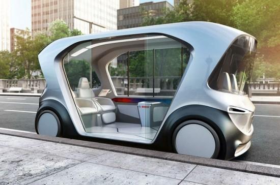 """""""Bosch"""" autonominis automobilis, pristatytas 2019-ųjų CES © """"Bosch"""" nuotrauka"""