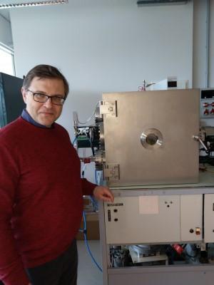 KTU Medžiagų mokslo instituto Vakuuminių ir plazminių procesų mokslo laboratorijos vadovas Šarūnas Meškinis