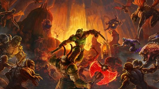 """""""Doom Eternal"""" žaidimo kadras"""