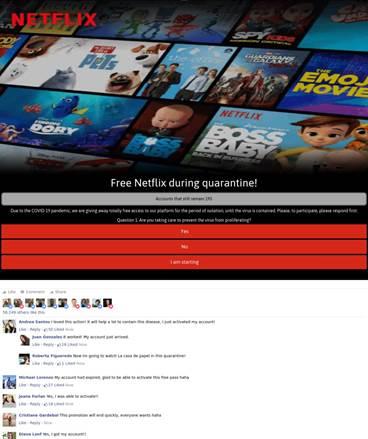 Netikra internetinė svetainė, kuri buvo užmaskuota kaip autentiška srautinės transliacijos platforma