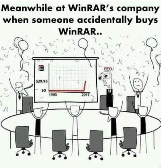 """""""WinRAR"""" amžinumas jau seniai tapo interneto naudotojų pajuokos objektu"""